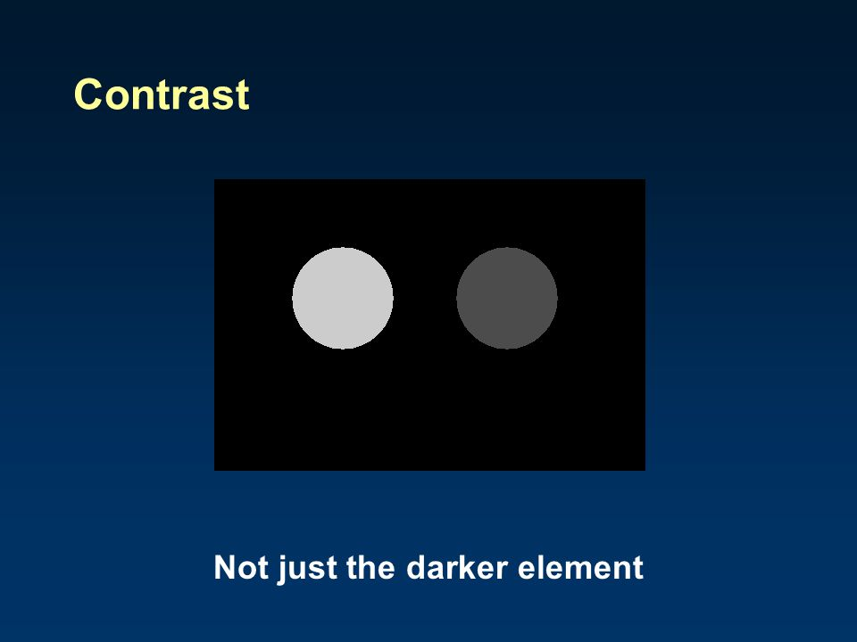 Not just the darker element