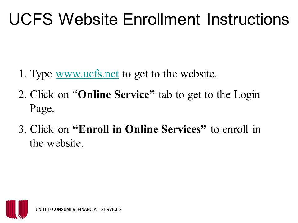 UCFS Website Enrollment Instructions