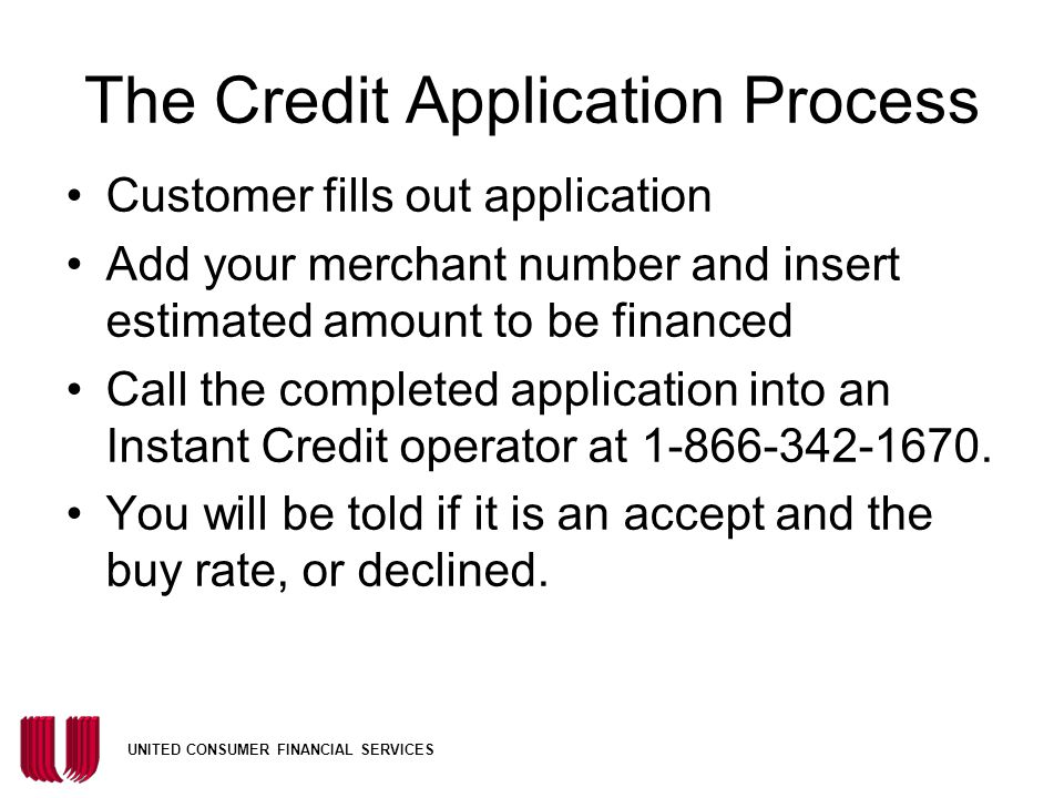The Credit Application Process