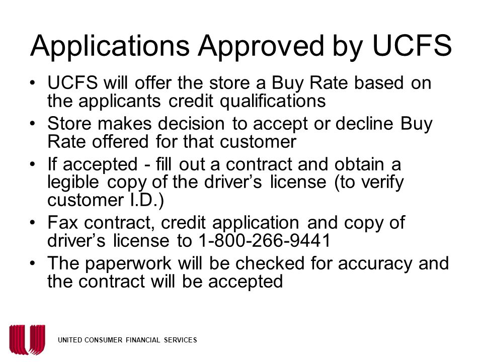 Applications Approved by UCFS
