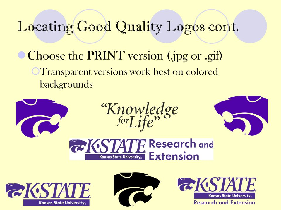 Locating Good Quality Logos cont.
