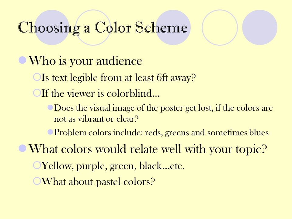 Choosing a Color Scheme