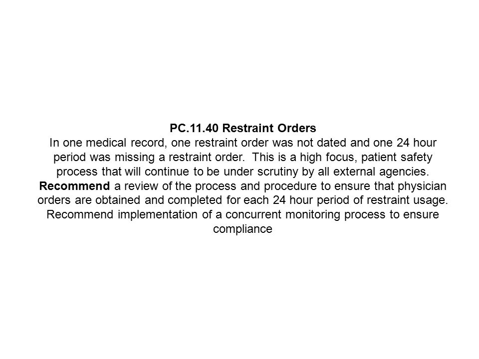 PC.11.40 Restraint Orders