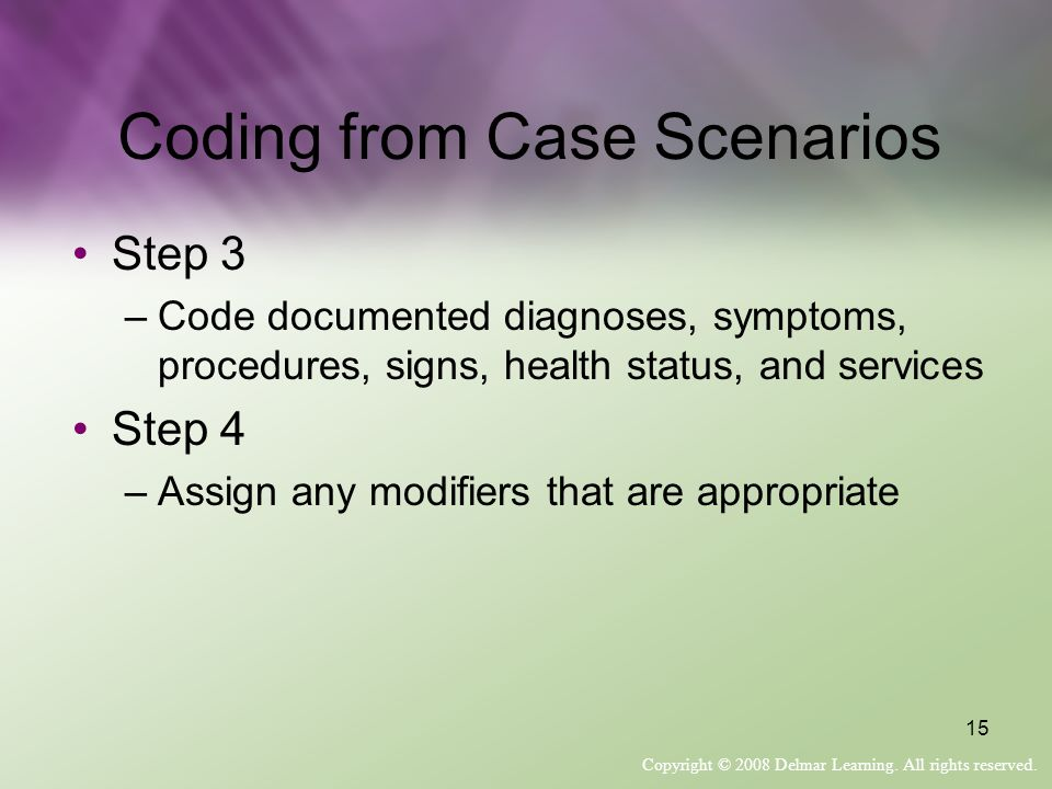 Coding from Case Scenarios