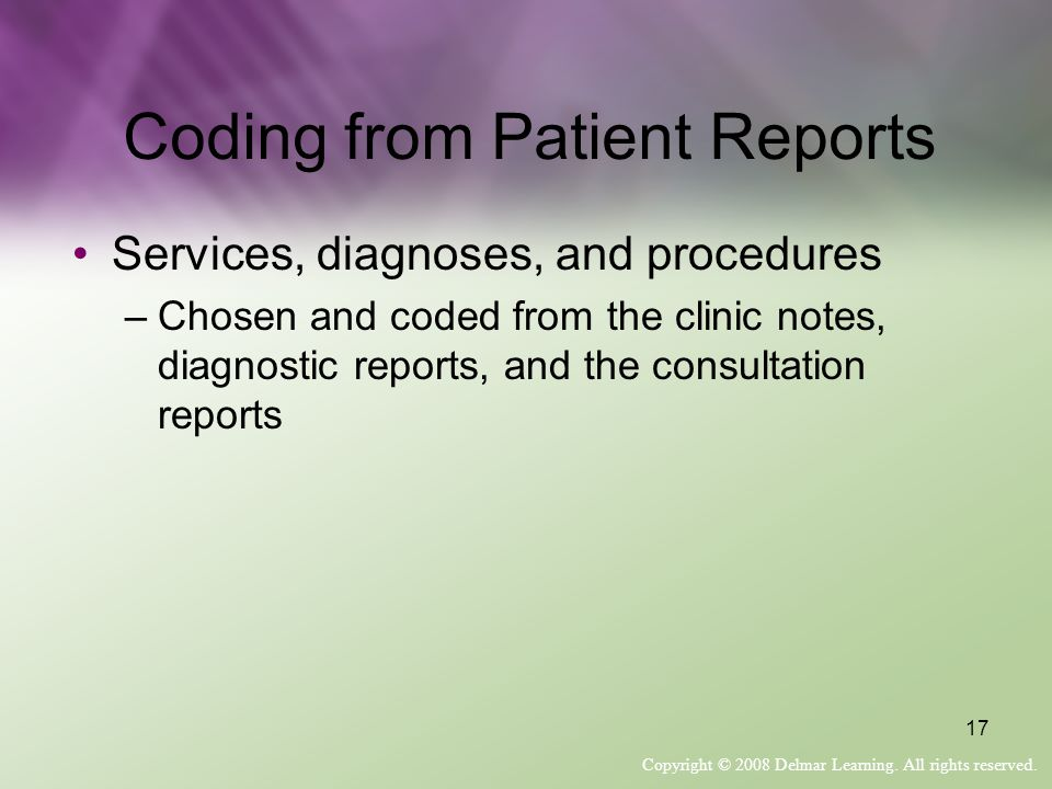 Coding from Patient Reports