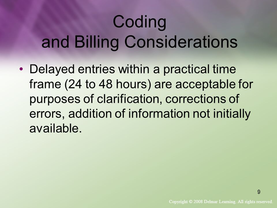 Coding and Billing Considerations