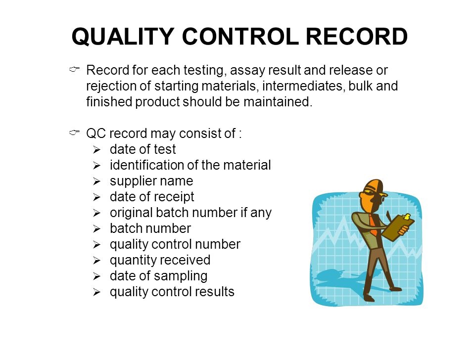 QUALITY CONTROL RECORD
