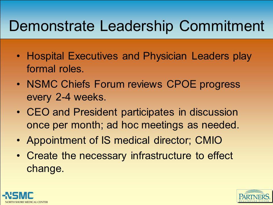 Demonstrate Leadership Commitment