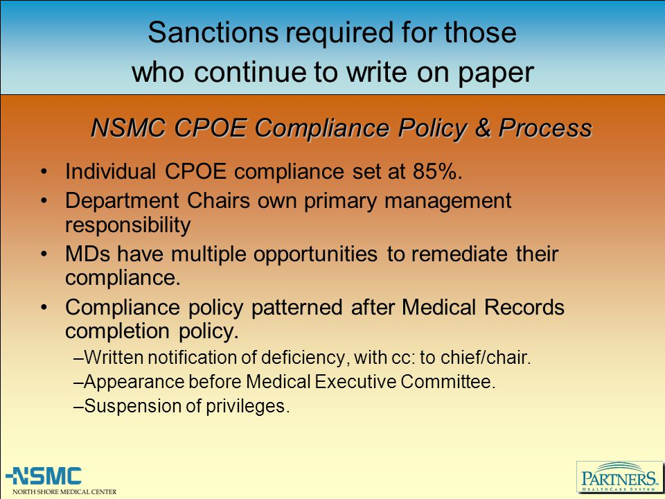 Sanctions required for those who continue to write on paper