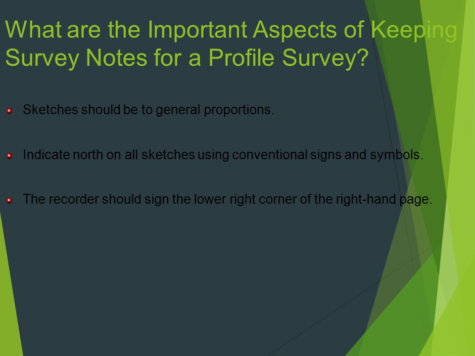 What are the Important Aspects of Keeping Survey Notes for a Profile Survey