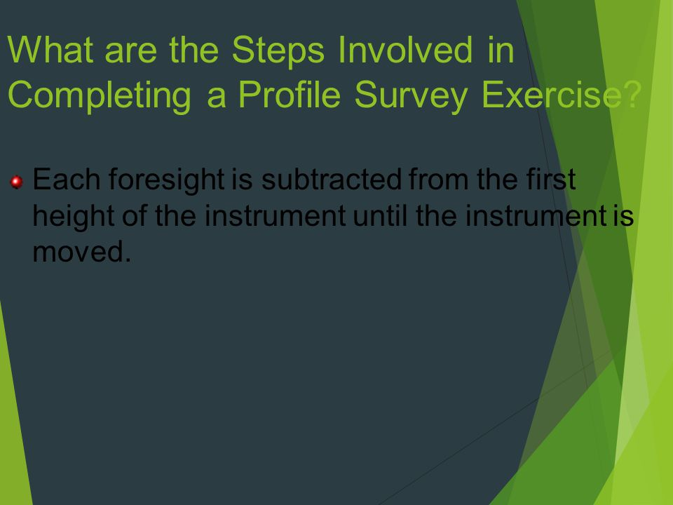What are the Steps Involved in Completing a Profile Survey Exercise