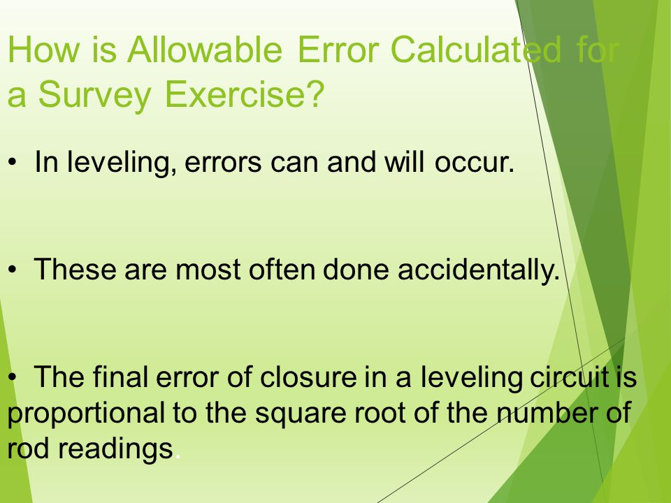 How is Allowable Error Calculated for a Survey Exercise