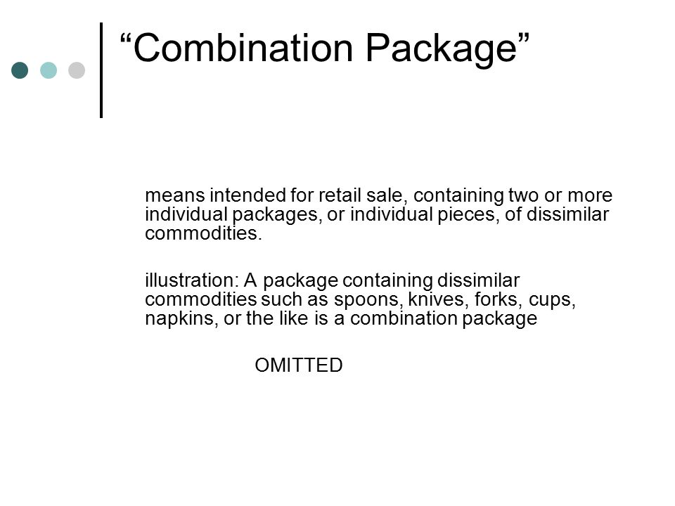 Combination Package