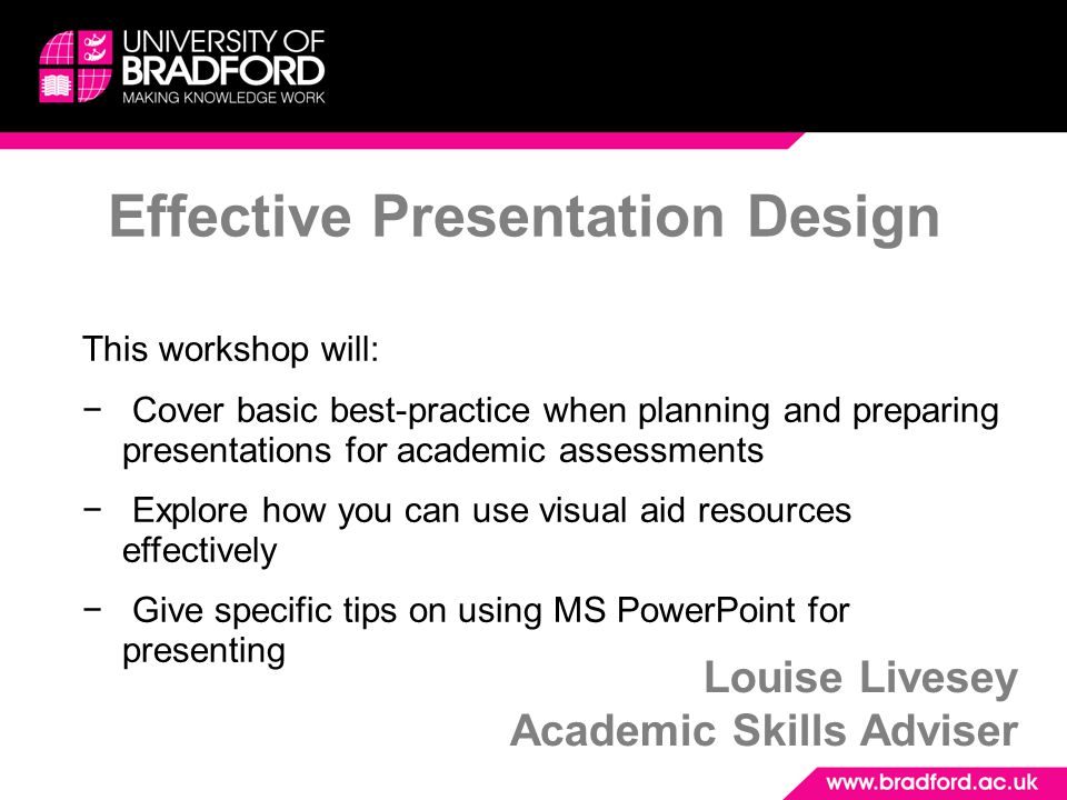 Effective Presentation Design
