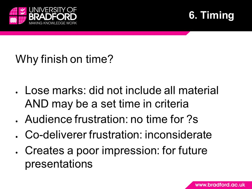 Audience frustration: no time for s