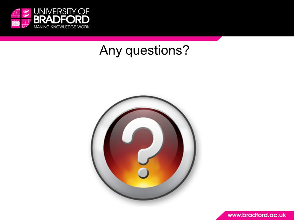 Any questions Produced by Louise Livesey August 2014