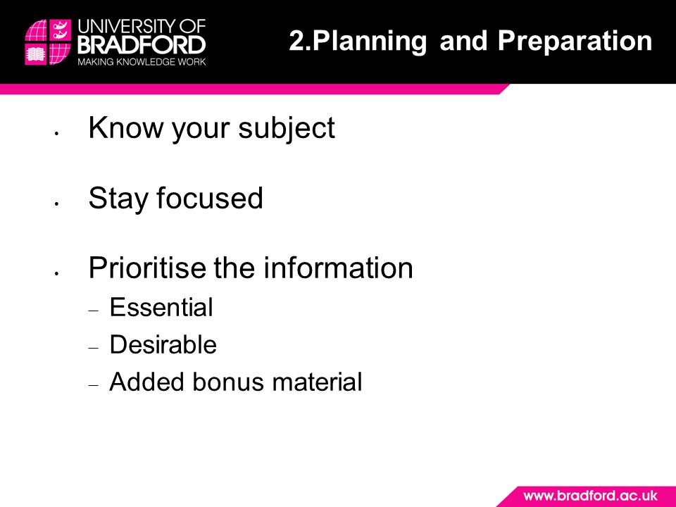 2.Planning and Preparation