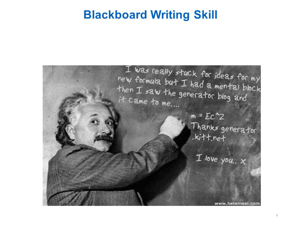 Blackboard Writing Skill