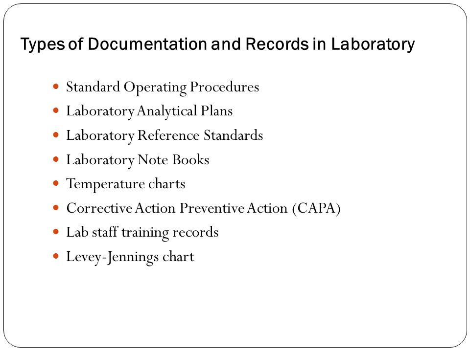 Types of Documentation and Records in Laboratory