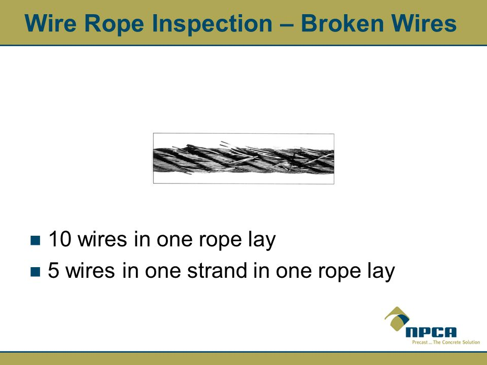 Wire Rope Inspection – Broken Wires
