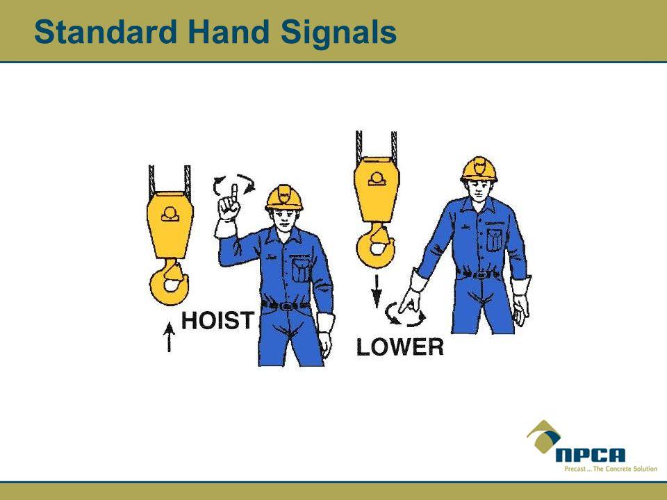 Standard Hand Signals