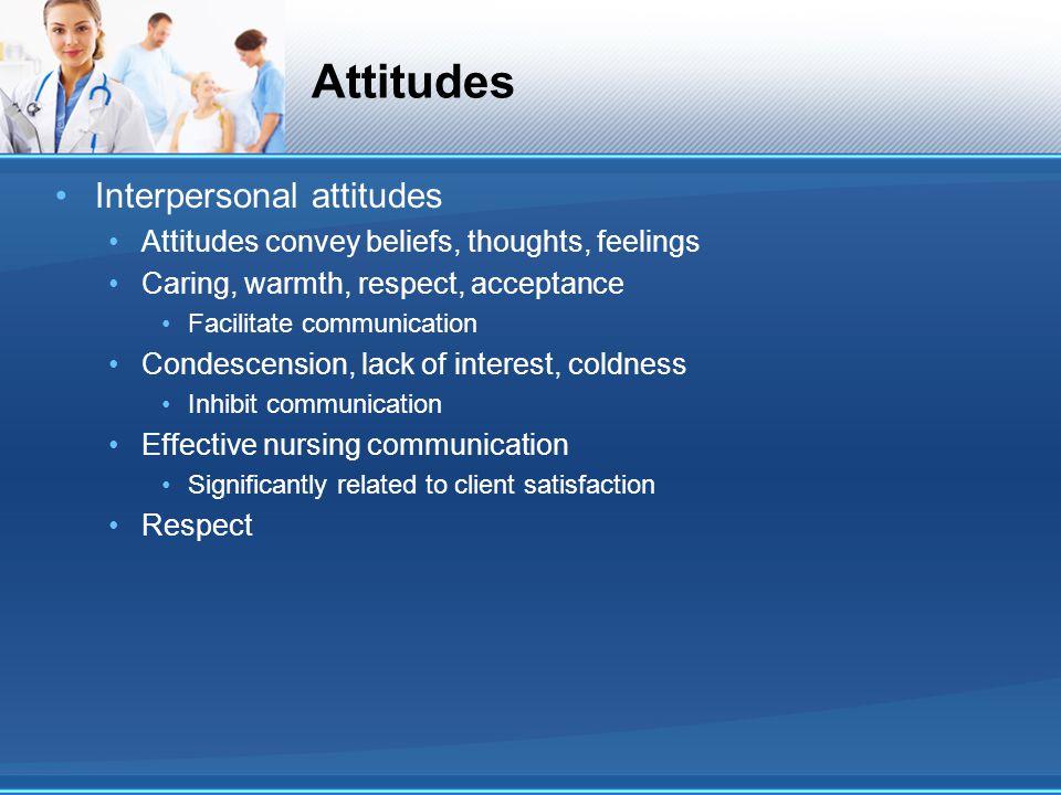 Attitudes Interpersonal attitudes