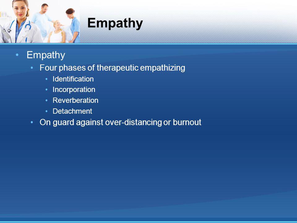Empathy Empathy Four phases of therapeutic empathizing