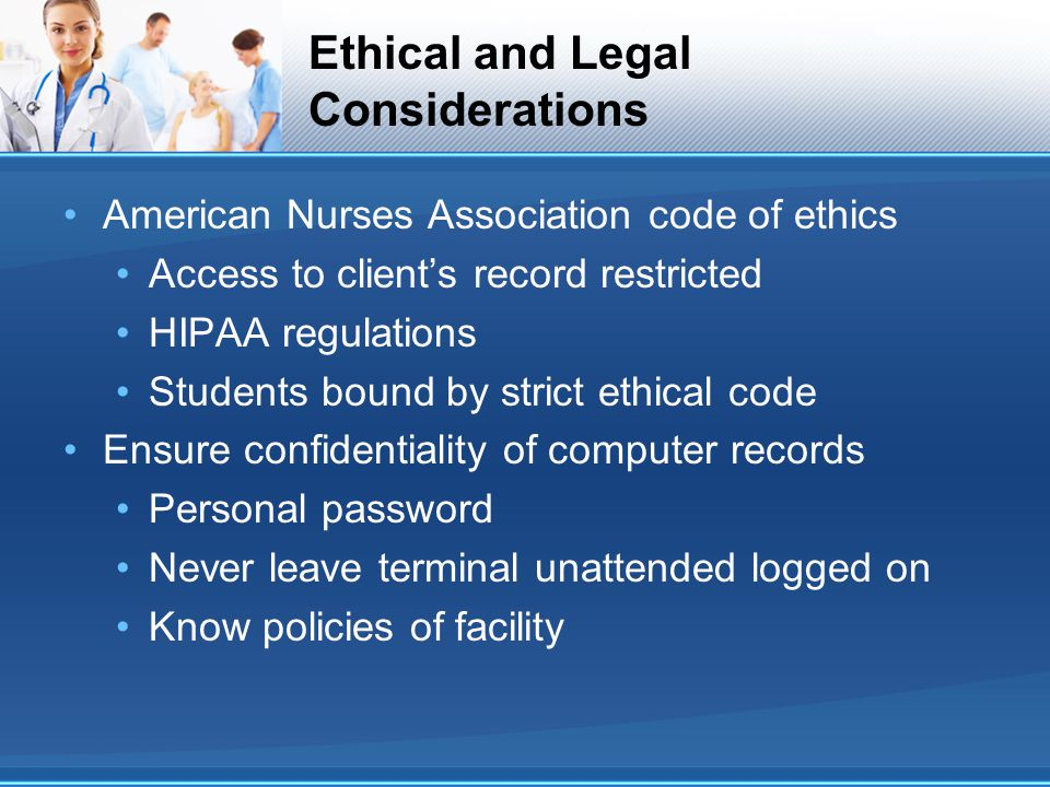 Ethical and Legal Considerations