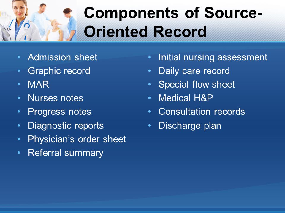 Components of Source-Oriented Record