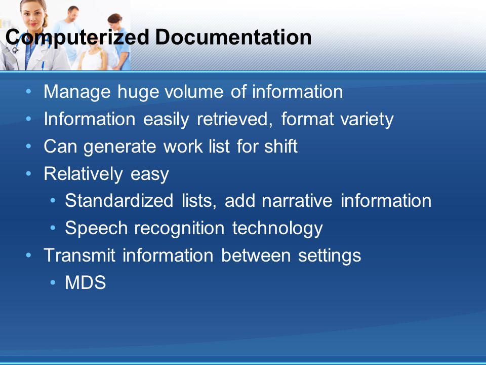 Computerized Documentation
