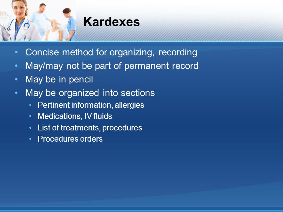Kardexes Concise method for organizing, recording
