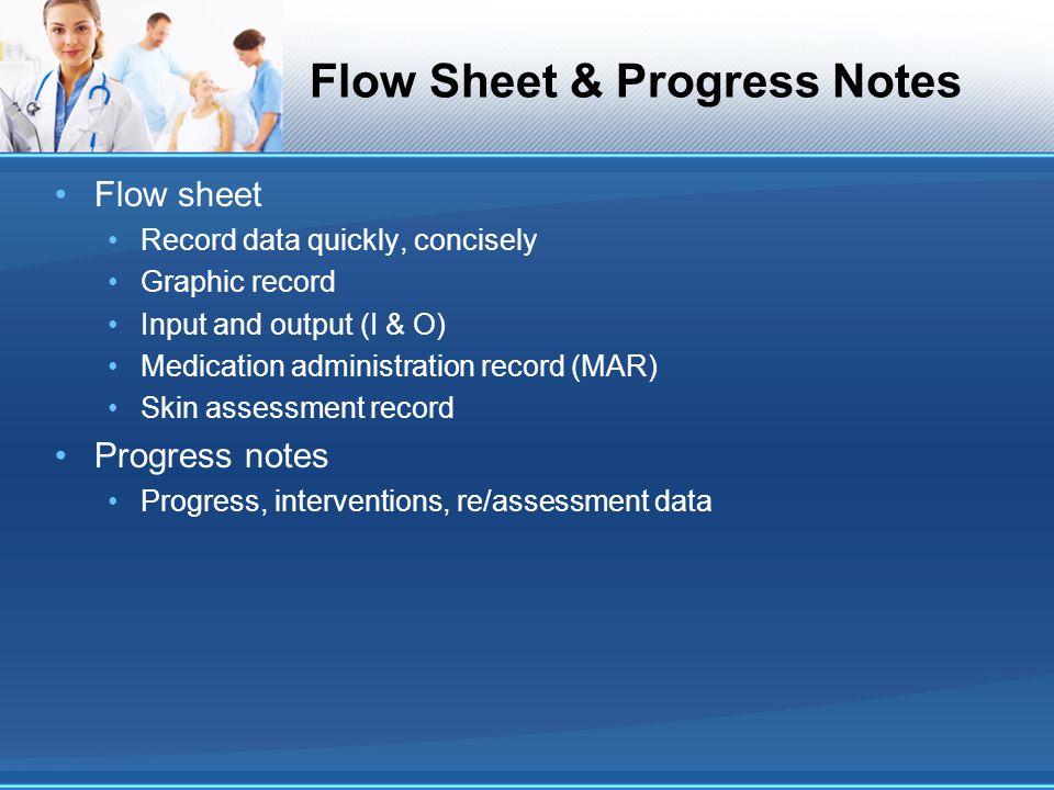 Flow Sheet & Progress Notes
