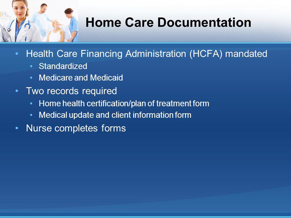 Home Care Documentation