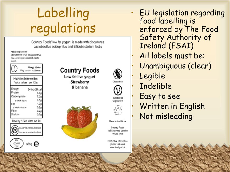 Labelling regulations