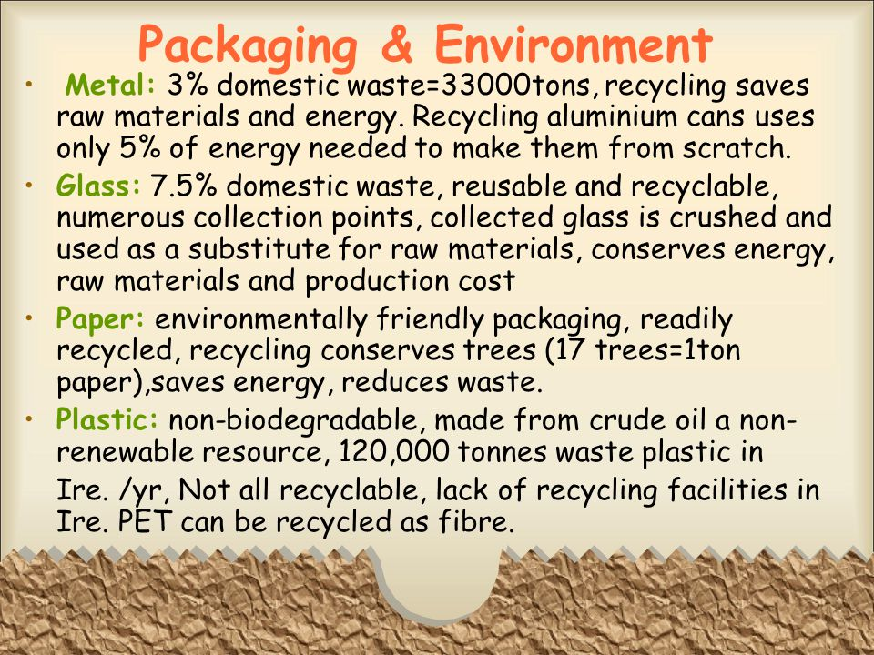 Packaging & Environment