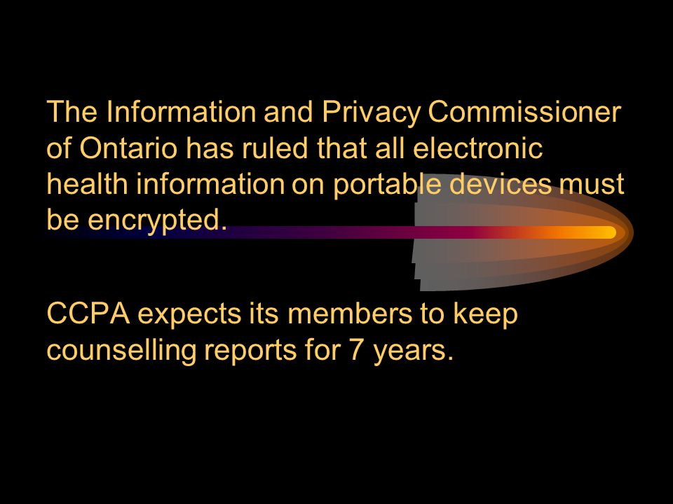 The Information and Privacy Commissioner of Ontario has ruled that all electronic health information on portable devices must be encrypted.