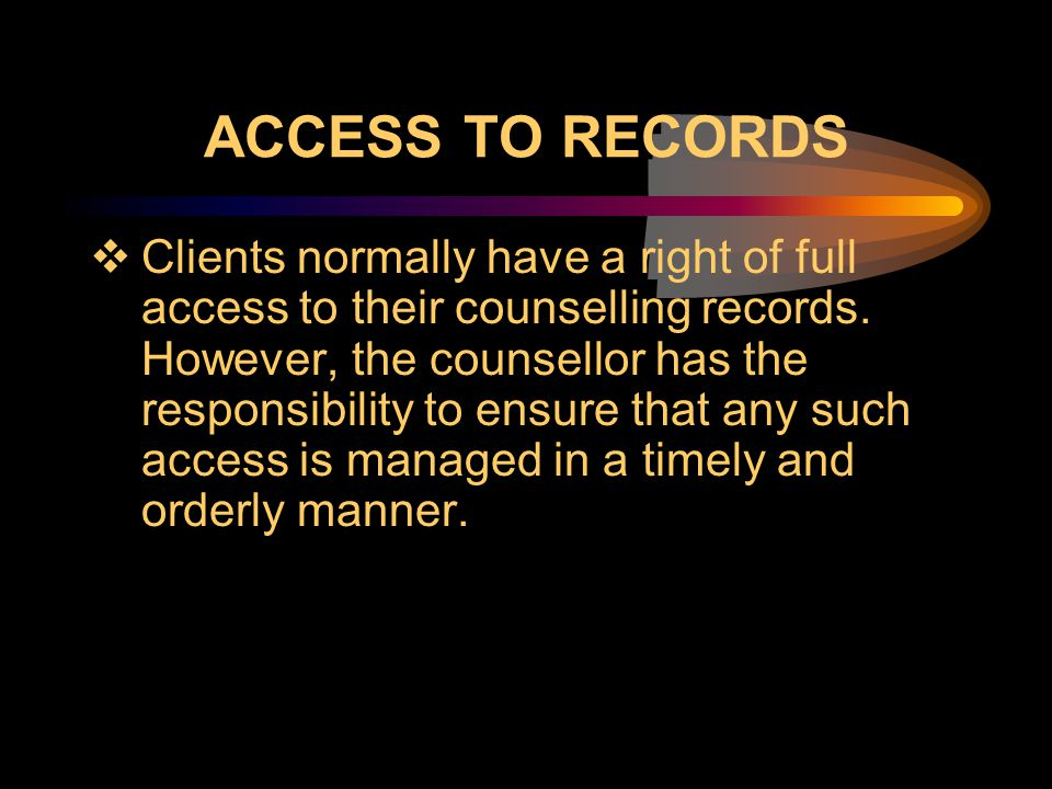 Access to Records