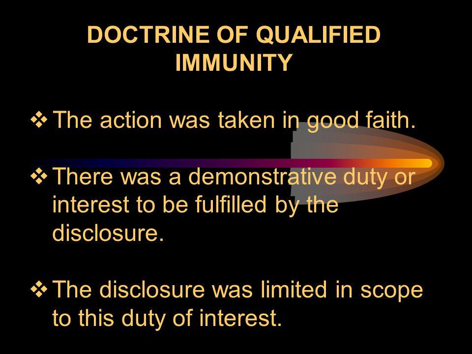 DOCTRINE OF QUALIFIED IMMUNITY