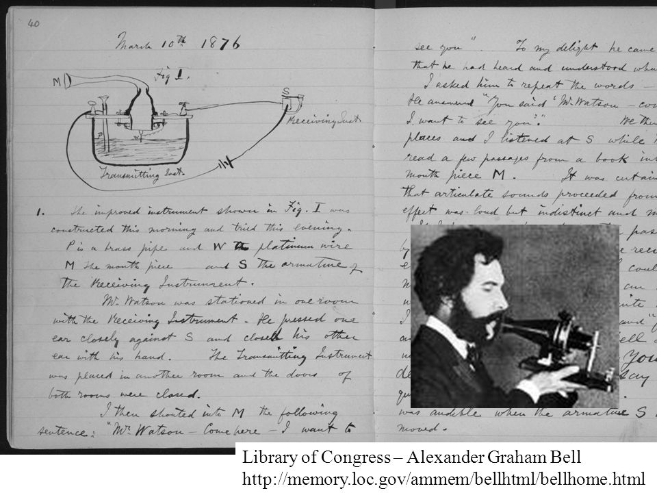 Library of Congress – Alexander Graham Bell http://memory. loc