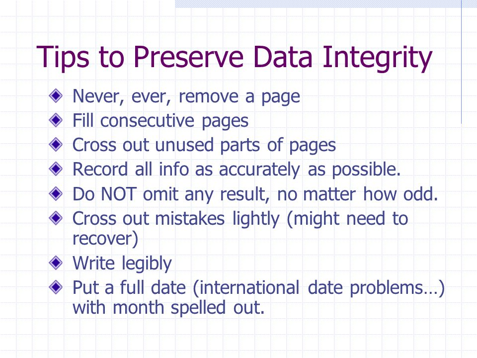 Tips to Preserve Data Integrity