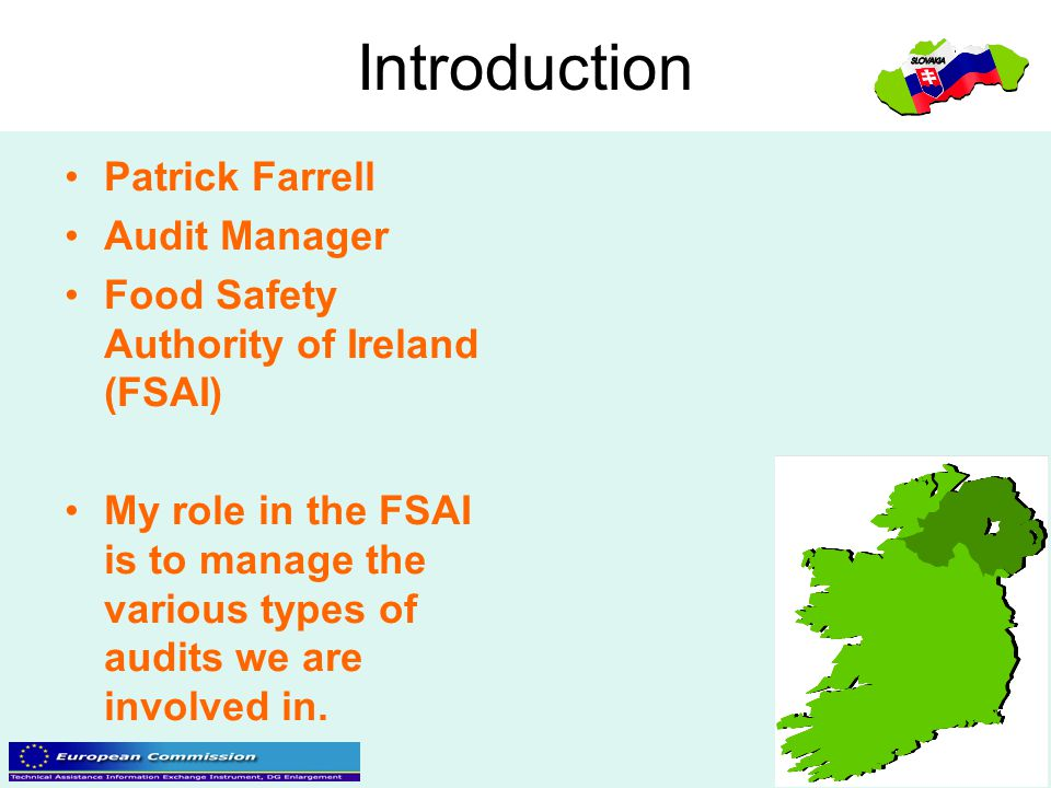 Introduction Patrick Farrell Audit Manager
