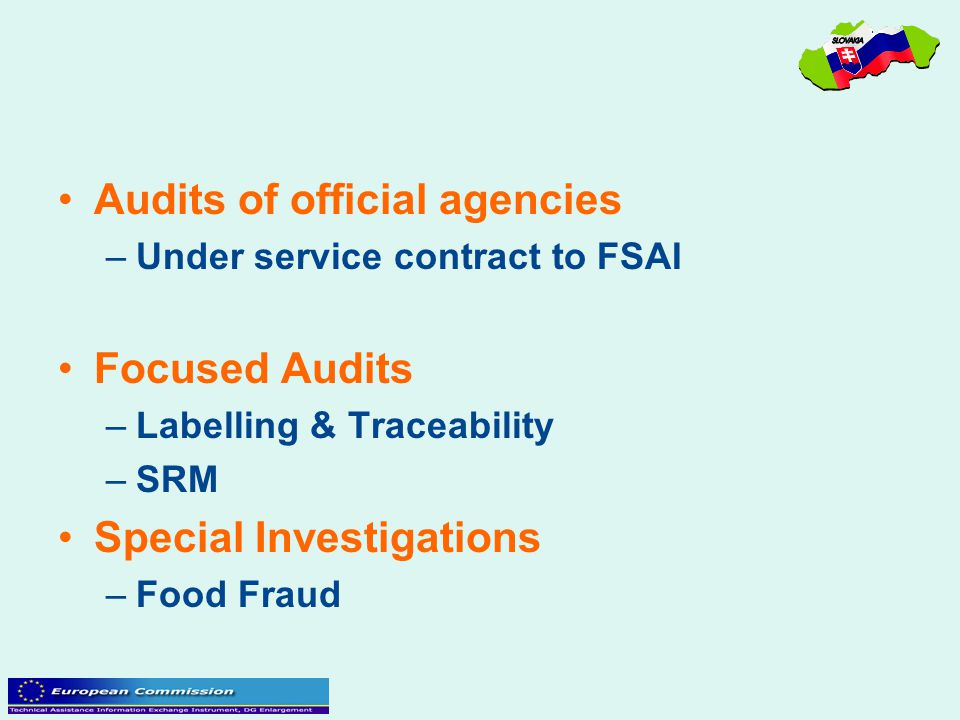 Audits of official agencies