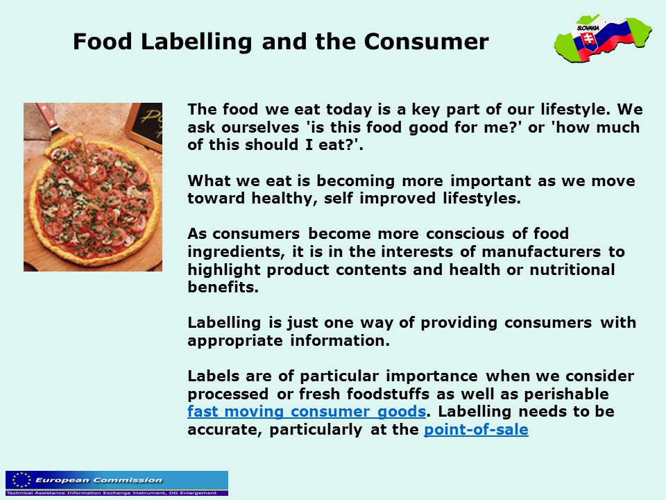 Food Labelling and the Consumer