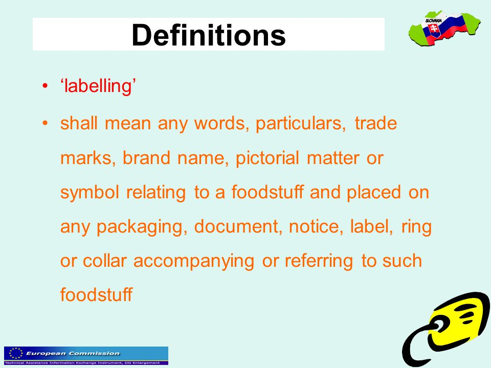 Definitions 'labelling'