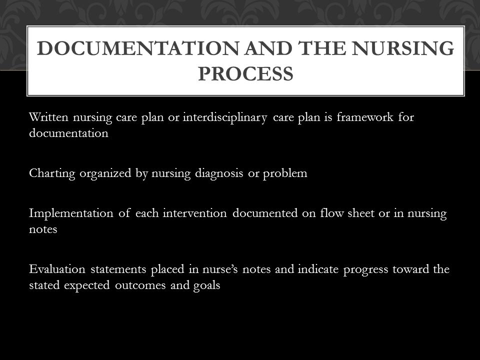 Documentation and the Nursing Process