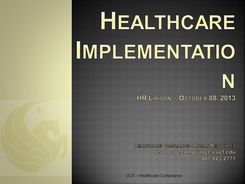 UCF – Healthcare Compliance