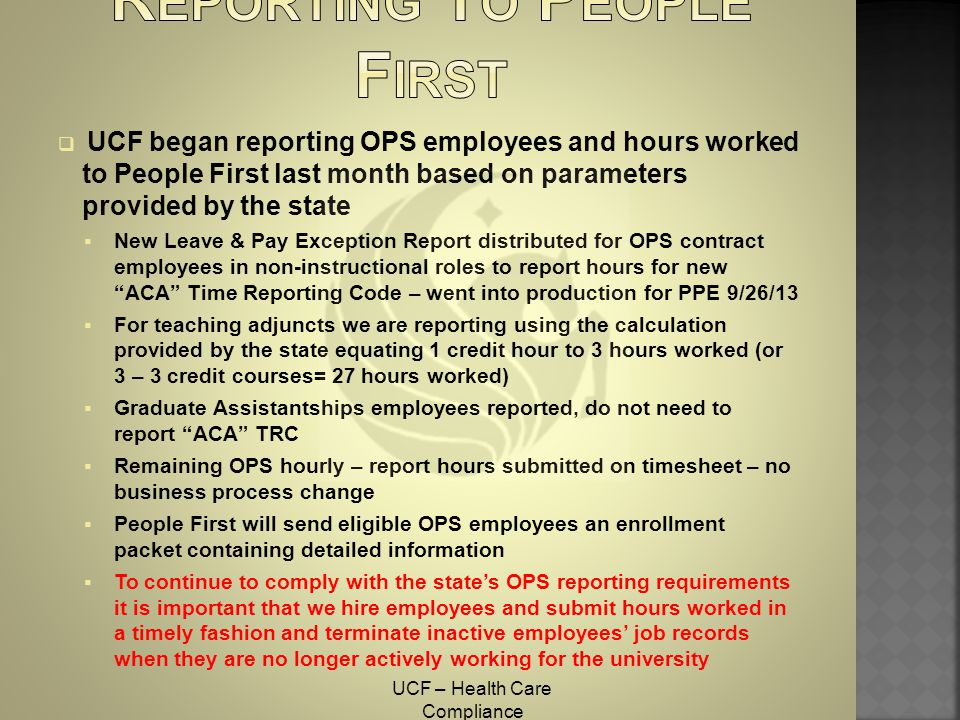 Reporting To People First
