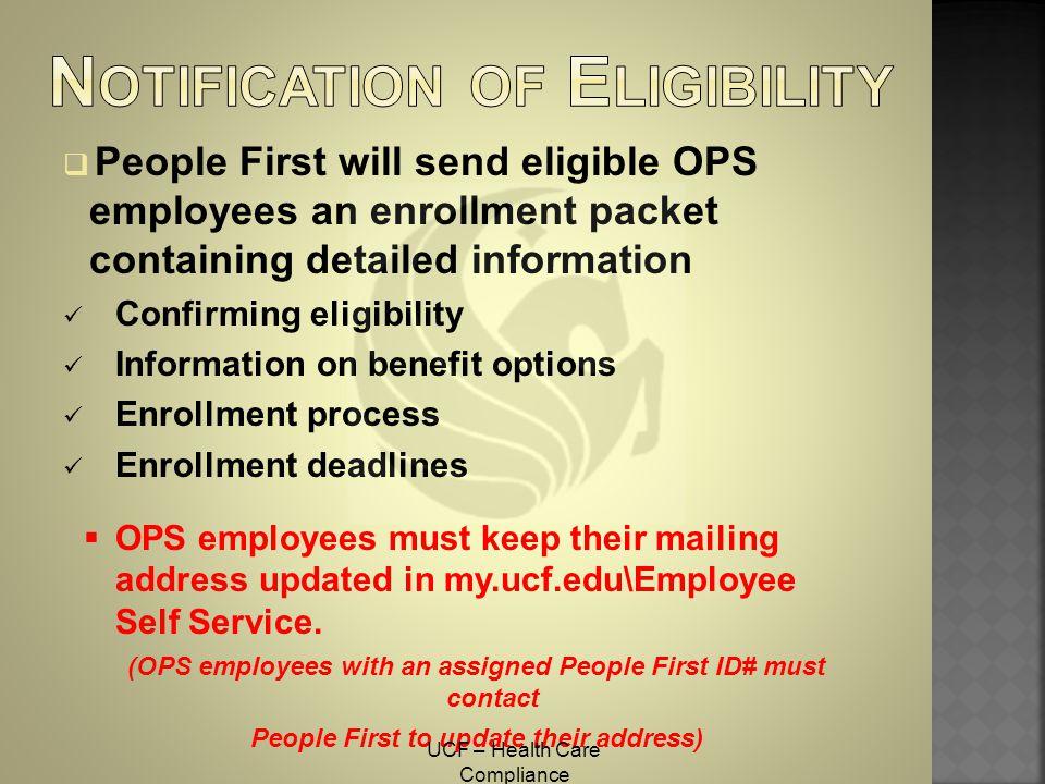Notification of Eligibility