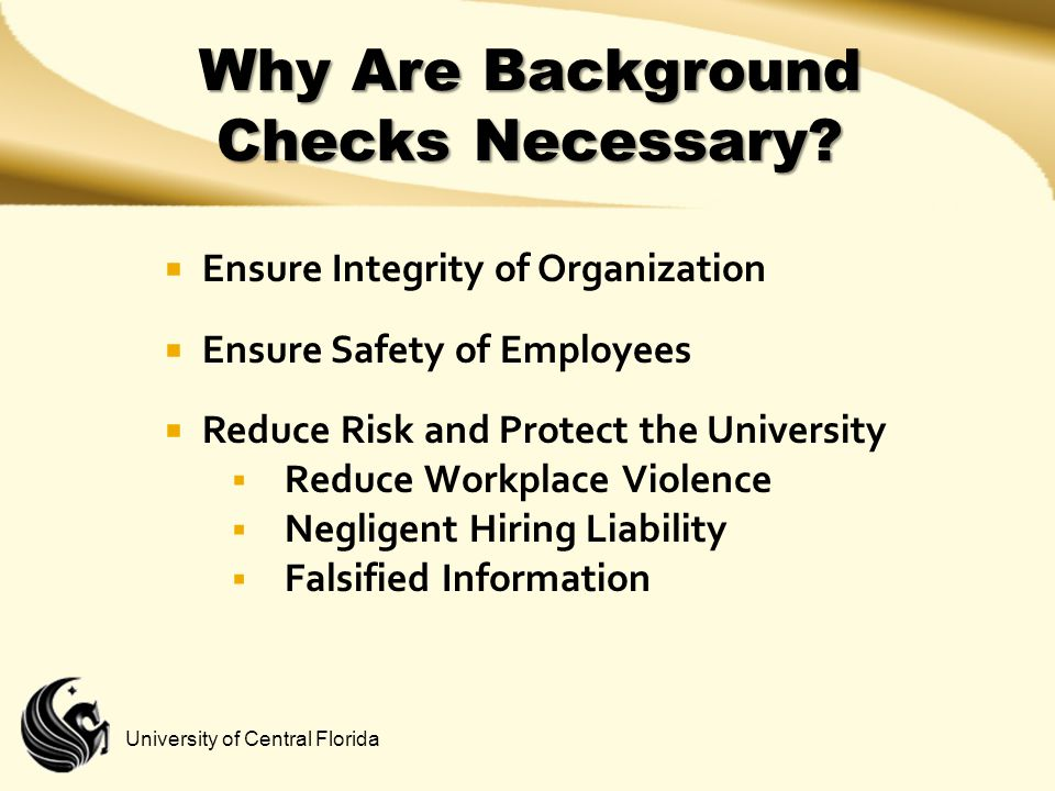 Why Are Background Checks Necessary