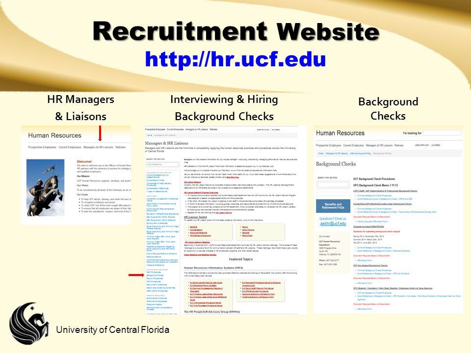 Recruitment Website http://hr.ucf.edu